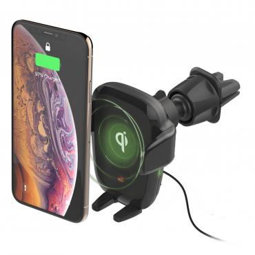 حامل هاتف للسيارة iOttie Auto Sense Automatic Wireless Charging CD/Air Vent Mount - أسود