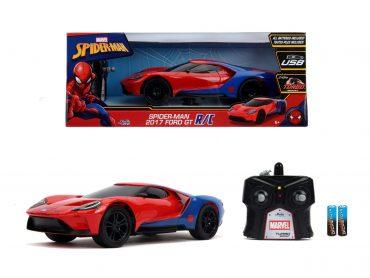 لعبة سيارة Jada - Marvel RC Spiderman 2017 Ford GT 1:16
