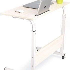 طاولة لابتوب بعجلات Laptop Table Desk Stand Mobile Computer