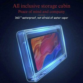 حامل هاتف محمول مقاوم للماء و الضباب للحمام، مثبت على الحائط قابل للتعديل من خلال شاشة لمس  - Magic box