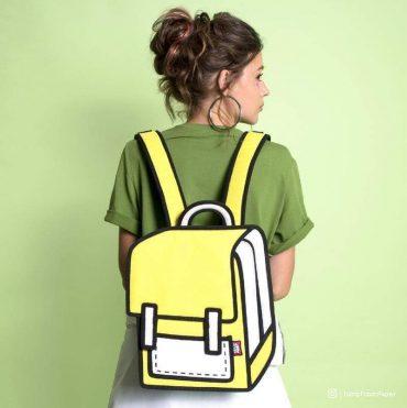 حقيبة ظهر من JUMP FROM PAPER - أصفر 10.5 إنش