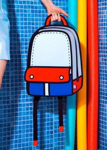 حقيبة ظهر Adventure من JUMP FROM PAPER – أحمر 13 إنش