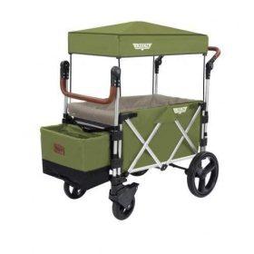 عربة أطفال قابلة للطي Keenz 7S Premium Deluxe Foldable Wagon-Stroller - أخضر