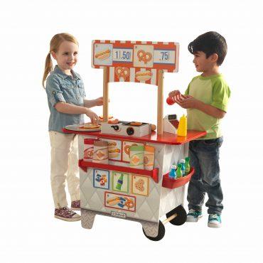 عربة الطعام للأطفال KidKraft - Ultimate Snack Stand - أحمر