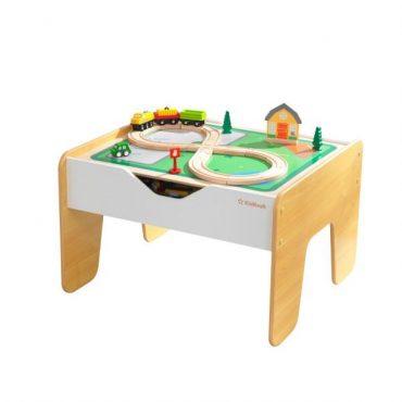 طاولة لعب مزدوجة KidKraft - 2-in-1 Activity Table with Board - Gray & Natural - رمادي