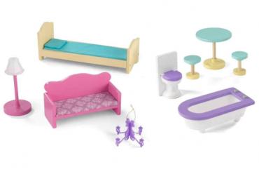 مجموعة أثاث بيت الدمى KidKraft - Gemma Dollhouse Furniture Pack
