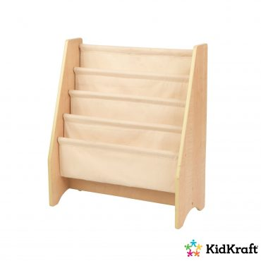 خزانة مع جيوب من القماش KidKraft - Sling Bookshelf Natural