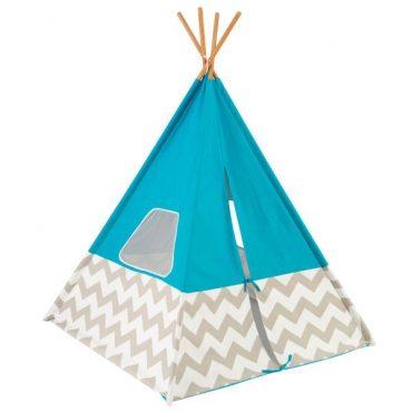 لعبة خيمة الأطفال KidKraft - Deluxe Play Teepee - أزرق