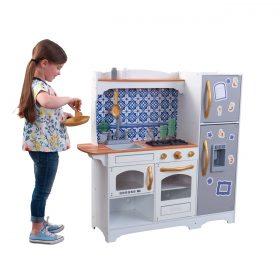مطبخ للأطفال KidKraft - Mosaic Magnetic Play Kitchen - أبيض