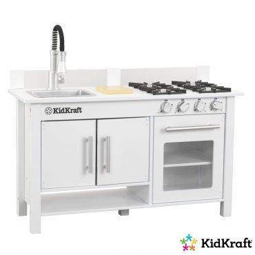 مطبخ للأطفال KidKraft - Little Cook's Work Station Kitchen - أبيض