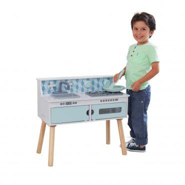 مطبخ للأطفال KidKraft - Play & Put Away Wooden Kicthen - أبيض