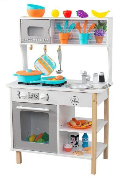 مطبخ للأطفال KidKraft - All Time Play Kitchen With Accessories - أبيض
