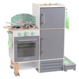 مطبخ ومغسلة للأطفال KidKraft - 2-in-1 Kitchen and Laundry - رمادي