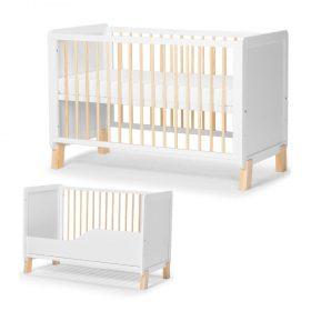 Kinderkraft Baby سرير أطفال خشبي + mattress white