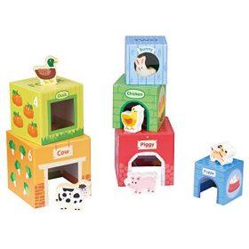 لعبة Lelin - Stacking Cubes-6 Friends in Farm