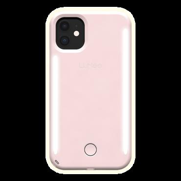 كفر موبايل مع إضاءة أمامية وخلفية Lumee - Duo Case for iPhone 11 - زهري