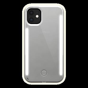 كفر موبايل مع إضاءة أمامية وخلفية Lumee - Duo Case for iPhone 11 - مرآة / فضي