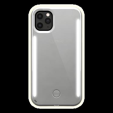 كفر موبايل مع إضاءة أمامية وخلفية Lumee - Duo Case for iPhone 11 Pro - مرآة / فضي