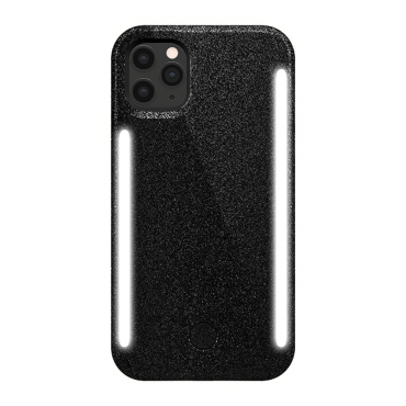 كفر موبايل مع إضاءة أمامية وخلفية Lumee - Duo Case for iPhone 11 Pro Max - أسود لامع