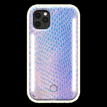 كفر موبايل مع إضاءة أمامية وخلفية Lumee - Duo Case for iPhone 11 Pro Max - ألوان حورية البحر
