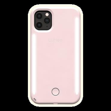 كفر موبايل مع إضاءة أمامية وخلفية Lumee - Duo Case for iPhone 11 Pro Max - زهري