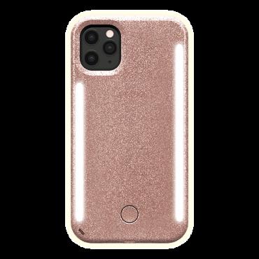 كفر موبايل مع إضاءة أمامية وخلفية Lumee - Duo Case for iPhone 11 Pro Max - أحمر لامع