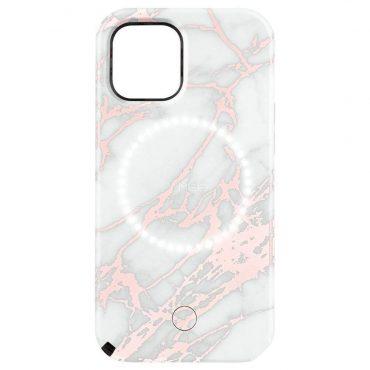 كفر Lumee - Halo Selfie Case for Apple iPhone 12 Mini - أبيض