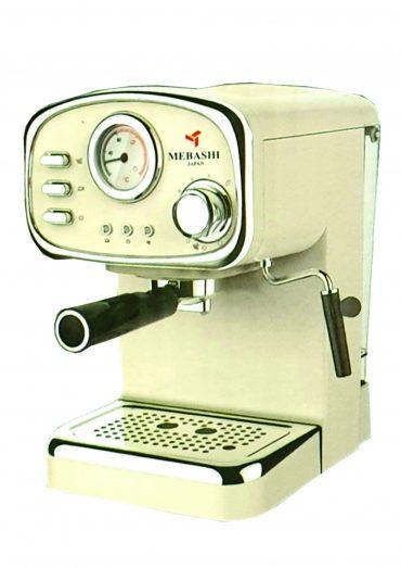 ماكينة قهوة MEBASHI - ESPRESSO COFFEE MACHINE-ME-ECM2010 - أبيض