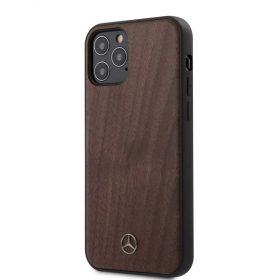 """كفر  Mercedes-Benz Wood Case for iPhone 12 / 12 Pro (6.1"""") - Walnut Brown"""