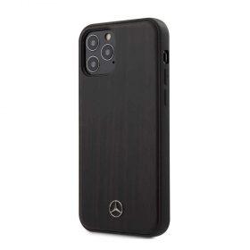 """كفر  Mercedes-Benz Wood Case for iPhone 12 Pro Max (6.7"""") - Rosewood Brown"""