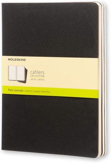 3 دفاتر ملاحظة غير مسطرة Moleskine - Set 3 Notebooks - 120 صفحة / أسود