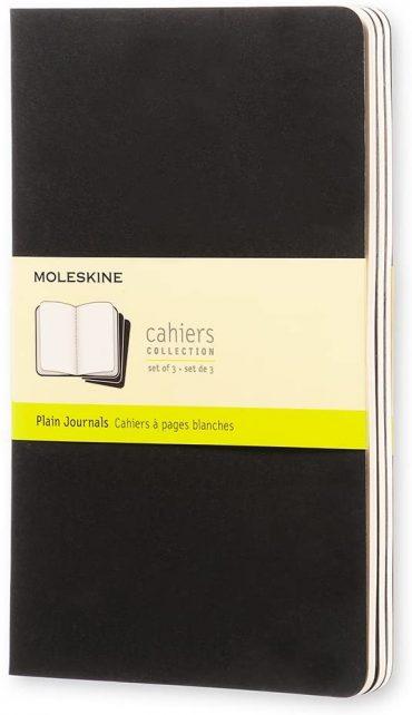 3 دفاتر ملاحظة غير مسطرة Moleskine - Set 3 Notebooks - 80 صفحة / أسود