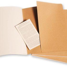 3 دفاتر ملاحظة غير مسطرة Moleskine - Set 3 Notebooks - 120 صفحة / بني