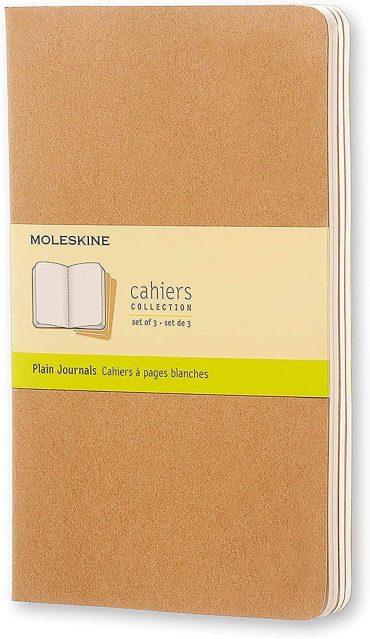 3 دفاتر ملاحظة غير مسطرة Moleskine - Set 3 Notebooks - 80 صفحة / بني