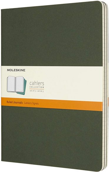 3 دفاتر ملاحظة مسطرة Moleskine - Set 3 Notebooks - 120 صفحة / أخضر