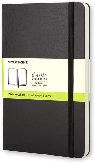 دفتر ملاحظات غير مسطر Moleskine - Classic Plain Paper Notebook - A6 - 192 صفحة / أسود