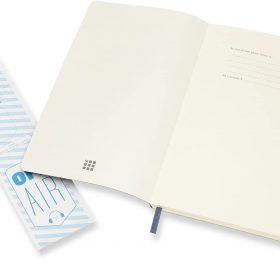 دفتر ملاحظات غير مسطرMoleskine - Classic Plain Paper Notebook - A5 - 192 صفحة / أزرق ياقوتي