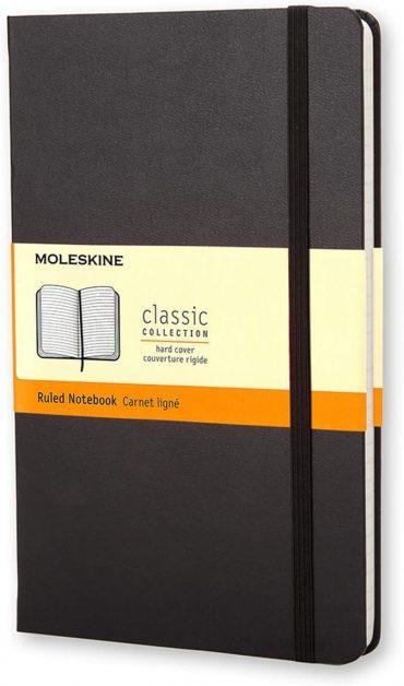 دفتر ملاحظات مسطر Moleskine - Classic Ruled Paper Notebook - A5 - 240 صفحة / أسود