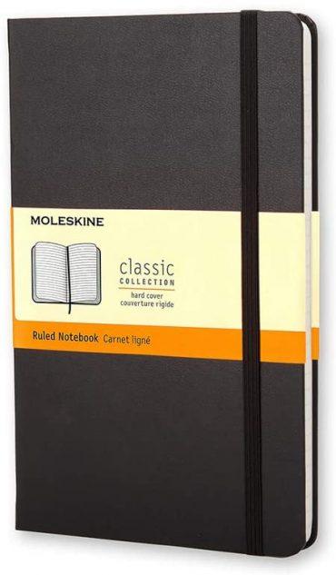 دفتر ملاحظات مسطر Moleskine - Classic Ruled Paper Notebook - A6 - 192 صفحة / أسود