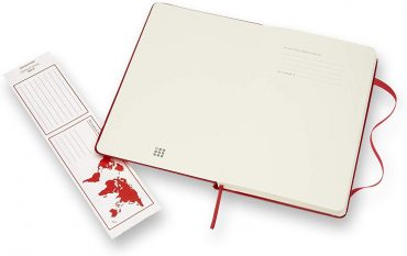 دفتر ملاحظات مسطر Moleskine - Classic Ruled Paper Notebook - A5 - 240 صفحة / أحمر