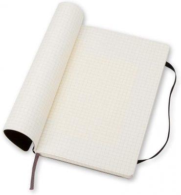 دفتر ملاحظات مربعات Moleskine - Classic Squared Paper Notebook - A5 - 192 صفحة / أسود