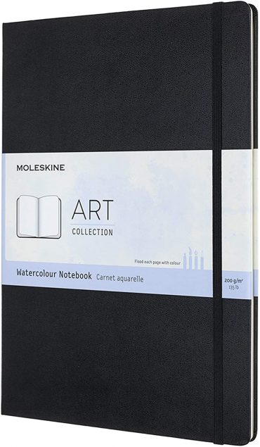 دفتر رسم Moleskine - Art Collection Watercolor Notebook - 60 صفحة / أسود