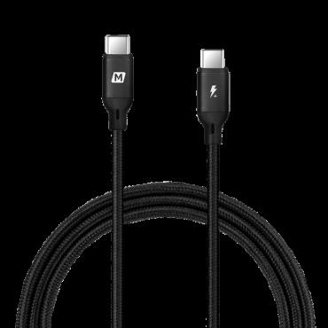 كابل GO LINK USB-C TO USB-C 100W CABLE 1.2M MOMAX - أسود
