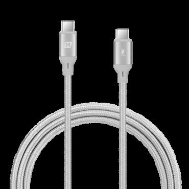 كابل GO LINK USB-C TO USB-C 100W CABLE 1.2M MOMAX - فضي