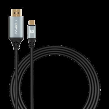 كابل GO LINK USB-C TO HDMI 2.0 CABLE 2M MOMAX - رمادي