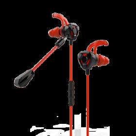 سماعة أذن EARBUDS HEADPHONES WITH MICROPHONE MOMAX - أحمر