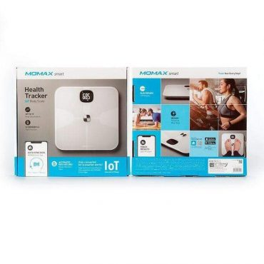 ميزان جسم رقمي SMART IoT BODY SCALE MOMAX - أبيض
