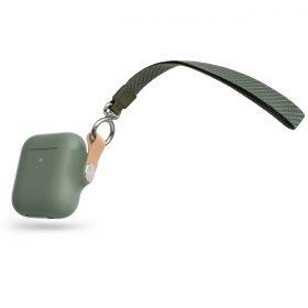 علبة سماعات Moshi PEBBO AirPods Gen 1/2 Case - أخضر