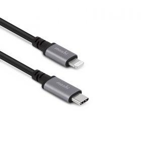 موصل USB-C إلى Lightning 3 أمتار Moshi - أسود