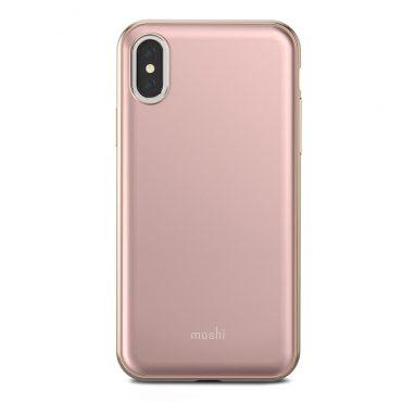 كفر ايفون iPhone XS/X MOSHI - وردي
